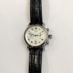 Stauer 27 Jewels Automatic Silver White Face Watch